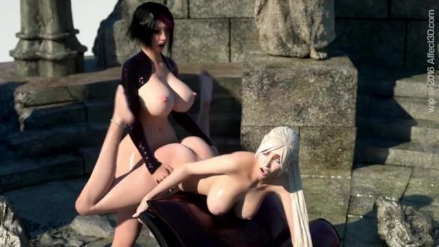 Girlfriends 4 ever Dickgirl Sayako Fucks Tara in the Ass Affect3D Anal WIP