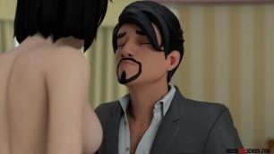 Dad Fucks Sexy Stepdaughter - 3D Hentai Animation