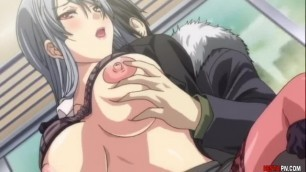 Curvy babes of Japan getting banged on the Hentai train