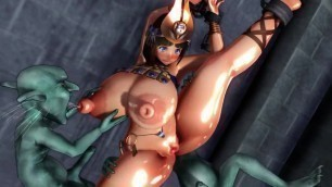 [3d Hentai] Monsters Fuck her so Hard that her Milk comes out