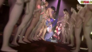 Huge Tits 3D Hentai Monster Orgasm