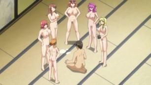 Anime H - Gran follada a seis chicas calientes
