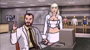 BLONDE SPY BLOWJOB - Archer Cartoon Porn, Blowjob under Table, Giving Head under Table Desk Oralsex