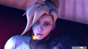 Overwatch futanari Mercy fucks Pharah