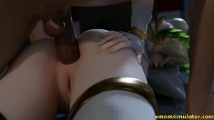 Overwatch Mercy sex and blowjob compilation