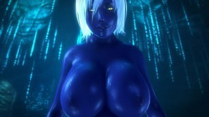 Queen Nualia 3D Hentai Cowgirl Ride Blue Skin With Big Tits
