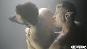 GrowlBoys Nerdy guy gets his ass pounded by older muscle man