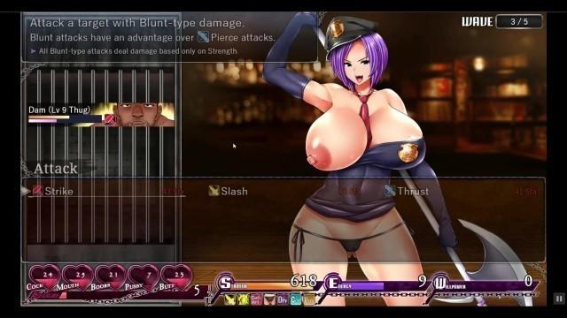 Karryn's Prison RPG Hentai game Ep.4 Warden's first handjob