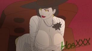 Resident Evil Village - Lady D Facesitting Cartoon