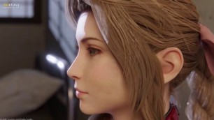 Aerith Final Fantasy Deepthroat   3D Hentai Uncensored