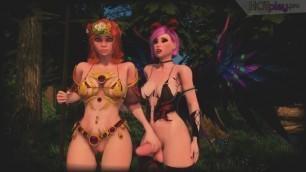 Shemale Fairy Fucks Amazon in the Forest - 3D Animation Cartoon Futa Porn Video